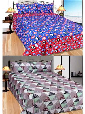 Furnishing Zone Fzbcrt0915 Multicolored Double Bedsheet Combo Pack