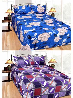Furnishing Zone Fzbcrt1819 Multicolored Double Bedsheet Combo Pack