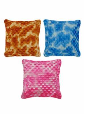Furnishing Zone Fzfur05  Multicolor Cushions Set Of 3