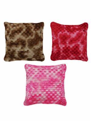 Furnishing Zone Fzfur09  Multicolor Cushions Set Of 3