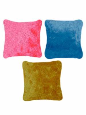 Furnishing Zone Fzfur17  Multicolor Cushions Set Of 3