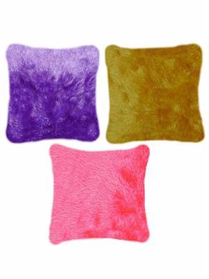 Furnishing Zone Fzfur19  Multicolor Cushions Set Of 3