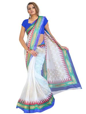 Fabdeals 106594 White Saree