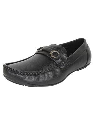 Firemark 2122 Black Men Loafers