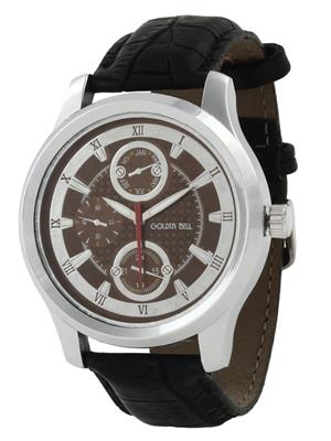 Golden Bell GB-0015BrnDBlkStrap Brown Men Analog Watch
