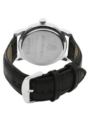 Golden Bell GB-0025WDBlkStrap White Men Analog Watch