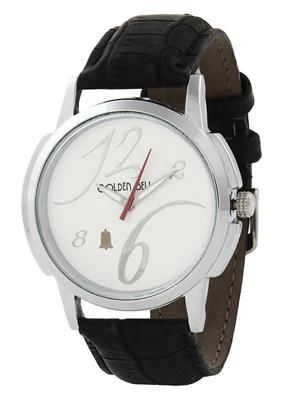 Golden Bell GB-003WDBlkStrap White Men Analog Watch
