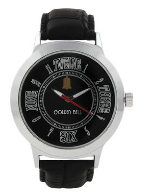 Golden Bell GB-005BlkDBlkStrap Black Men Analog Watch