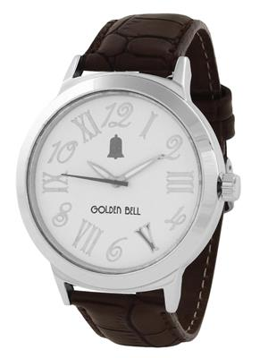 Golden Bell GB-007WDBlkStrap White Men Analog Watch