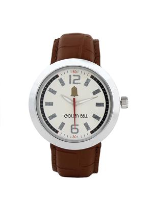 Golden Bell Formal White Dial Watch