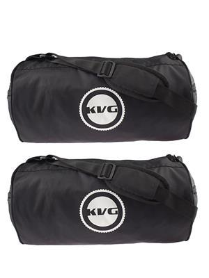 Kvg GBDR08 Black-Black Duffel Bag Pack Of 2