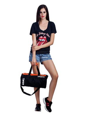 Kvg GBDR39 Black-Orange Duffel Bag