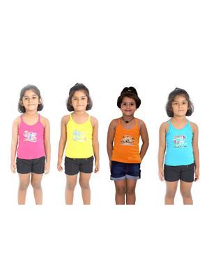Lilsugar Gcam01 Multicolored Girl Camisole Set Of 4