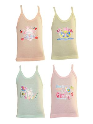 Lilsugar Gcam02 Multicolored Girl Camisole Set Of 4