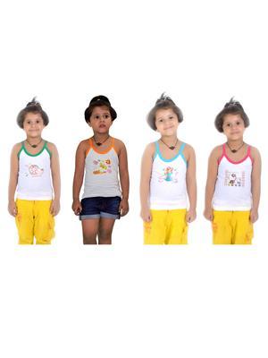Lilsugar Gcam03 Multicolored Girl Camisole Set Of 4