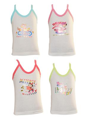 Lilsugar Gcam05 Multicolored Girl Camisole Set Of 4