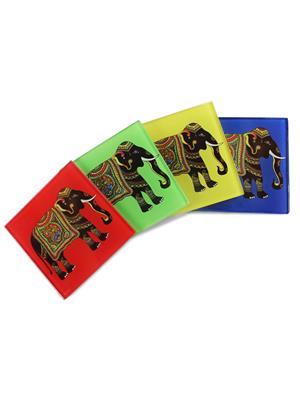 Kolorobia  GCE04 Silhouette of Elephant Coasters