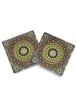 Kolorobia  GCMO10 Wheeler Moroccan Glass Coaster
