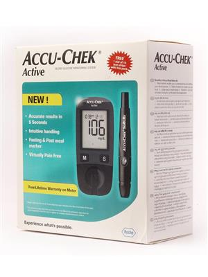 Accu-Chek Active With 10S Free Sugar Level Testing Care Machine