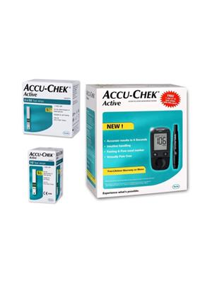 Accu-Chek Active Glucose Monitor with 100 Strips