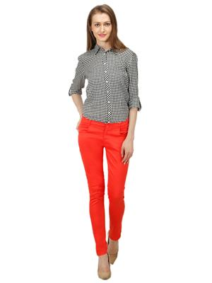 Ansh Fashion Wear GIRL-CH- Orange Women Trouser