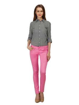 Ansh Fashion Wear GIRL-CH-Pink Women Trouser