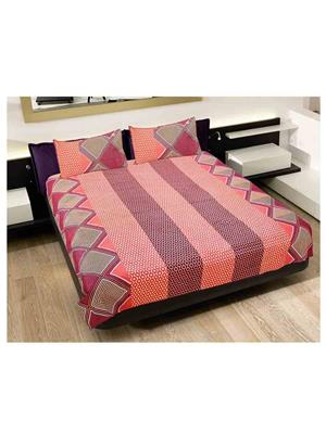 GRJ INDIA GRJ-DB-228 Multicolored Double Bedsheet