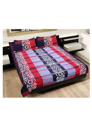 GRJ INDIA GRJ-DB-234 Multicolored Double Bedsheet