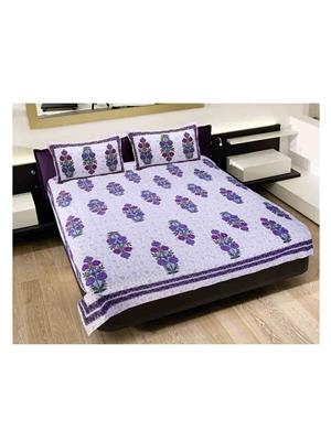 GRJ INDIA GRJ-DB-265 Multicolored Double Bedsheet