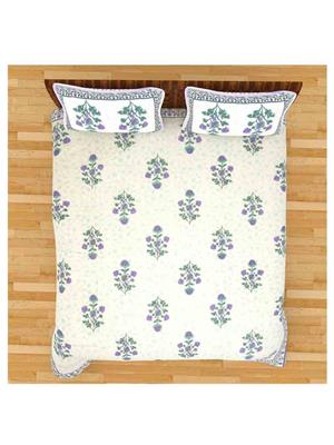 GRJ INDIA GRJ-DB-712 Multicolored Double Bedsheet