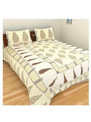 GRJ INDIA GRJ-DB-716 Multicolored Double Bedsheet