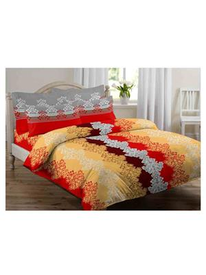 GRJ INDIA GRJ-DB-787 Multicolored Double Bedsheet