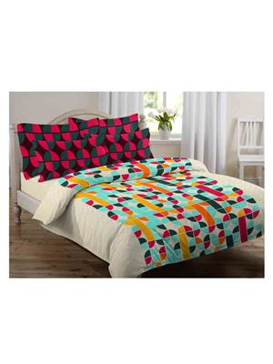 GRJ INDIA GRJ-DB-788 Multicolored Double Bedsheet