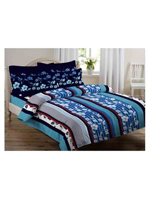 GRJ INDIA GRJ-DB-803 Multicolored Double Bedsheet