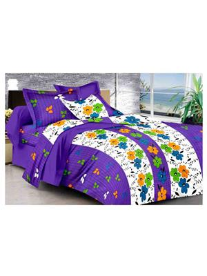 GRJ INDIA GRJ-DB-839 Multicolored Double Bedsheet