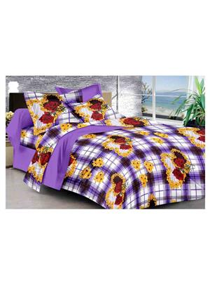 GRJ INDIA GRJ-DB-842 Multicolored Double Bedsheet