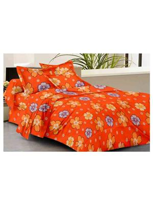 GRJ INDIA GRJ-DB-852 Multicolored Double Bedsheet