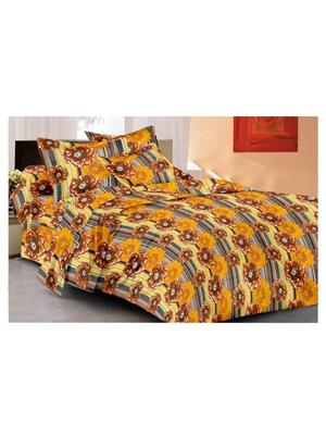 GRJ INDIA GRJ-DB-855 Multicolored Double Bedsheet