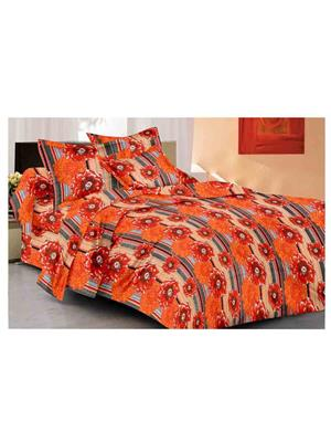 GRJ INDIA GRJ-DB-856 Multicolored Double Bedsheet