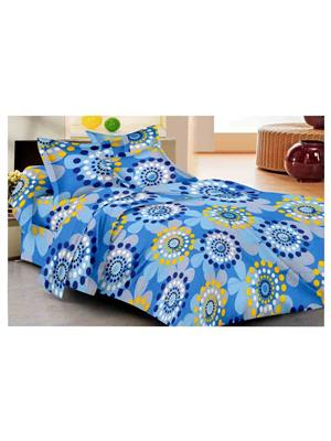 GRJ INDIA GRJ-DB-865 Multicolored Double Bedsheet