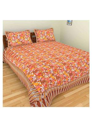 GRJ INDIA GRJ-DB-87 Multicolored Double Bedsheet