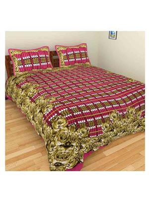 GRJ INDIA GRJ-DB-89 Multicolored Double Bedsheet