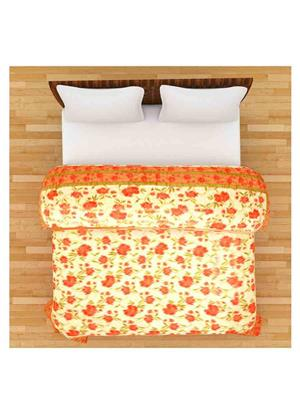 GRJ INDIA GRJ-DQ-146 Orange Double Bed Quilt