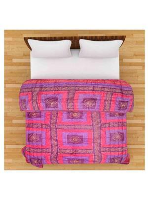 GRJ INDIA GRJ-SQ-150 Multicolor Single Bed Quilt