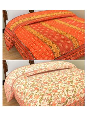 GRJ INDIA GRJ-SQ156-SQ158 Multicolored  Quilts (Set of Two)