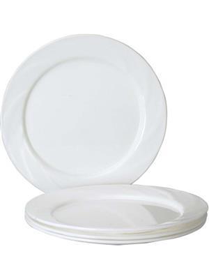 Ghar Sansar GS0020 White Plastic Plate Set of 6