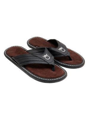 Royal Collection GS178B Black Men Slipper
