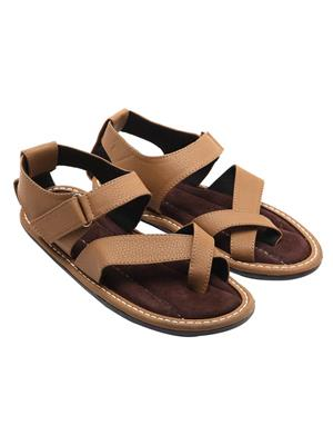 Royal Collection 187Br Brown Men Sandal