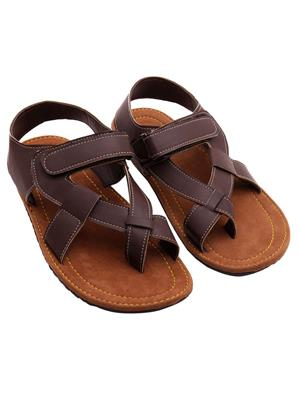 Royal Collection 386Br Brown Men Sandal