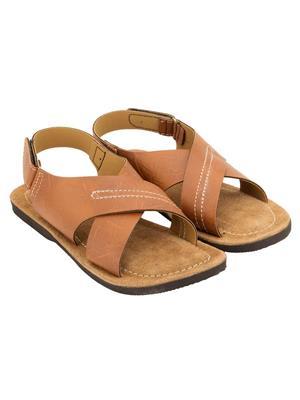 Royal Collection 473Br Brown Men Sandal